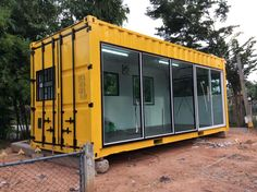 ​See what can do to an old shipping container! Building A Container Home, Container Buildings, Container Architecture, Container House Plans, Shipping Container Sheds, Container Restaurant, Container Conversions, Container Shop, Tiny House Cabin