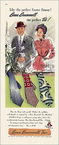 Beau Brummell Necktie ad, 1947.