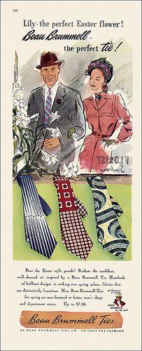Beau Brummell Necktie as, 1947.