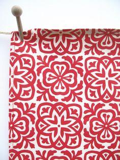 moroccan tile printed cotton
