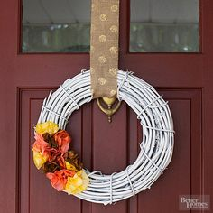 Wreath with Coffee-Filter Flowers