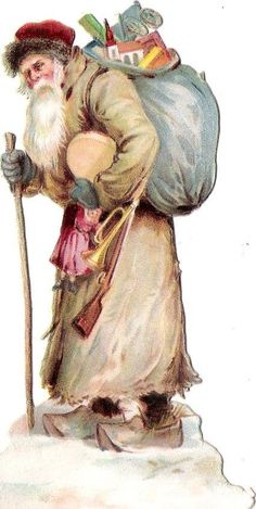 Oblaten Glanzbild scrap die cut Nikolaus 11cm santa XMAS Schnee Weihnacht | eBay