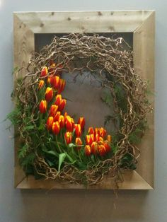 osterdeko ideen mit tulpen osterkranz basteln Easter decoration ideas with tulips Easter wreath tinker Pictures Of Spring Flowers, Flower Pictures, Ikebana, Deco Floral, Floral Design, Design Design, Arte Floral, Flower Images, Easter Wreaths