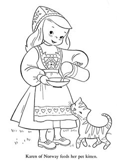 Coloring Books for Kids Best Of Children Of Other Lands 1954 – Belgium Spain Portugal Coloring Book Pages, Coloring Pages For Kids, Adult Coloring, Coloring Sheets, Norway Viking, World Thinking Day, Kids Around The World, Christmas Colors, Paper Dolls