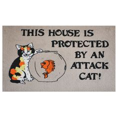 Attack Cat Doormat