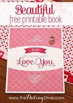 �100 Reasons Why I Love You� DIY Book