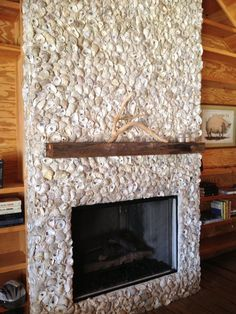 oyster fireplace - Google Search