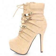 349ebf214 Monica Suede #Pump Gold Plates #Booties Platform Lace up Stiletto #Heels  #Stilettoheels