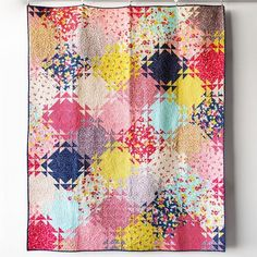 """358 Likes, 24 Comments - Janice Zeller Ryan (@betteroffthread) on Instagram: """"Mirage is my other Craftsy quilt kit made with Flower Shoppe fabric. It's fun to make and measures…"""""""