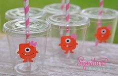 Little Monster Birthday Party Cups