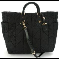 9e319a6dfeb7 Authentic Prada Tote Prada Tessuto, Quilted Tote Bags, Prada Tote, Nylon Bag ,