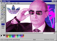 Vaporwave Putin = ?? Putin Funny, Vaporwave Fashion, Vaporwave Art, Glitch Art, Vladimir Putin, Aesthetic Photo, Edgy Memes, Best Memes, Wallpaper