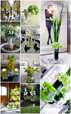 Green and White Inspiration Boards…….4 for the price of 1!