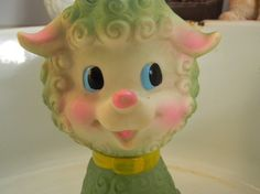 Vintage Lamb Rubber Squeak Toy