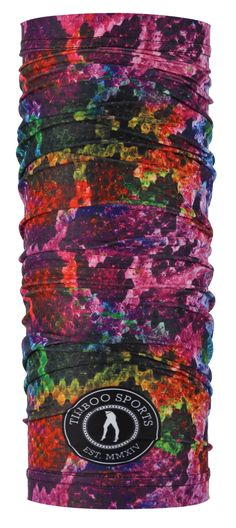 A Super Pretty Animal Print, Tikiboo's Rainboa Tikitube Features A Snakeskin Pattern In All The Colours Of The Rainbow. Use This Tikitube Sports Scarf During Training Or When Enjoying The Outdoors, Whatever The Weather. Pretty Animals, Wind And Rain, Rainbow Colors, All The Colors, Snake Skin, Scarves, Weather, Outdoors, Training