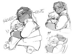 """if no one else is gonna give me quality heith hugs then i gotta do it myself bc gosh darn is hunk a great huggER"" Voltron Galra, Voltron Force, Voltron Fanart, Voltron Ships, Hunk Voltron, Cute Hug, First Tv, Space Cat, Paladin"