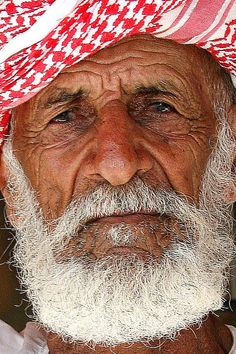 Old bearded fisherman near Sohar, Oman  (by Eric Lafforgue, via Flickr)