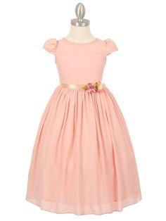 cc7006_peach_dobby_fabric_with_satin_sash_flower_girl_dress.jpg (1050×1400)