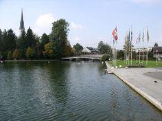 Lorze Abfluss Zugersee Cham, Switzerland