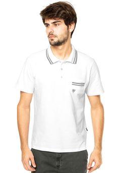 Camisa Polo Cavalera Branca - Compre Agora | Dafiti Brasil