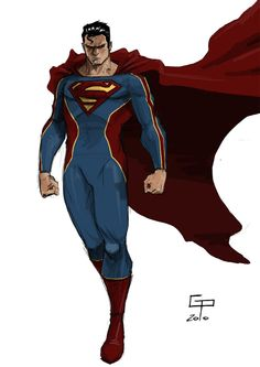 Superman by German Peralta Marvel Dc Comics, Dc Comics Art, Dc Heroes, Comic Book Heroes, Comic Books Art, Comic Character, Character Design, Hq Dc, Superman Family