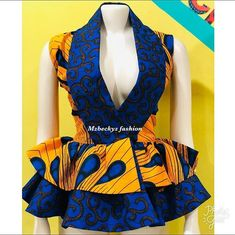 Ankara styles 583849539180517932 - Stylish Ankara Top Styles and Designs for Ladies Source by LatestAnkaraStylesDesigns African Fashion Ankara, Latest African Fashion Dresses, African Inspired Fashion, African Dresses For Women, African Print Dresses, African Print Fashion, African Attire, African Wear, African Blouses