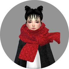 Child knit scarf at Marigold via Sims 4 Updates