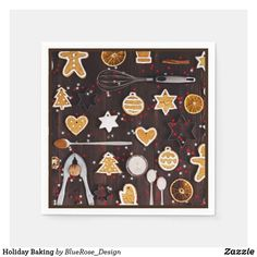 Holiday Baking Napkins Holiday Cards, Christmas Cards, Christmas Napkins, Ecru Color, Cocktail Napkins, Holiday Baking, Paper Napkins, Holiday Outfits, Holiday Treats