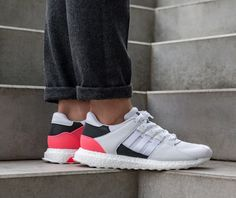 8aab2076f9c7 Adidas Equipment Support Ultra Grey White Red Black Shoes