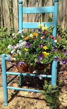 My Daddy always sat n a ladder back chair in his workshop--wonderful way to keep memories alive!