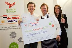 "Product Developer Paul Bom from the Vegetarian Butcher in The Netherlands is the winner of the prestigious Taste Innovation Contest ""SmaakNL2012""."