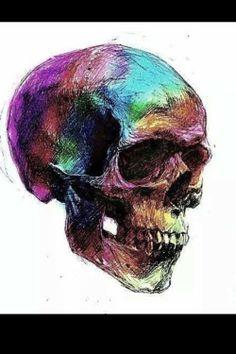 I have a skull obsession Skeleton Bones, Skeleton Art, Skull Artwork, Skull Drawings, Colorful Skulls, Skull Illustration, Unicorn Art, Skulls And Roses, Skull Design