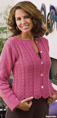 Knitting - Patterns for Wearables - Cardigan Patterns - Pink Pique Cardigan Design, Cardigan Pattern, Knit Cardigan, Knitting Patterns Free Dog, Knit Patterns, Crochet Dog Sweater, Knit Crochet, Pink Sweater, Creative Knitting