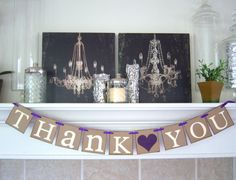 Thank You Sign Wedding banner Thank you Sign by lolaandcompany, $18.00