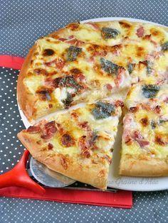 Pizza Lardons, Chèvres et Miel   Une Graine d'Idée