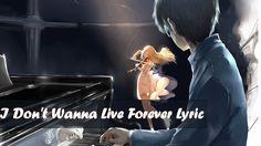 「Nightcore」I Don't Wanna Live Forever - Sam Tsui| Lyrics ✗