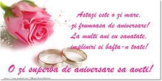 Felicitari aniversare De Casatorie Happy Anniversary, Decoupage, Wedding Rings, Place Card Holders, Engagement Rings, Google, Dresses, Birthday, Gift