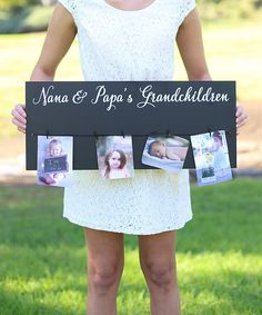 Look at this Grandchildren Personalized Photo Sign on #zulily today!