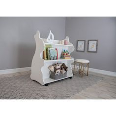 Ace Baby Furniture Rabbit Mobile Double-Sided Bookcase - MBRWT1054