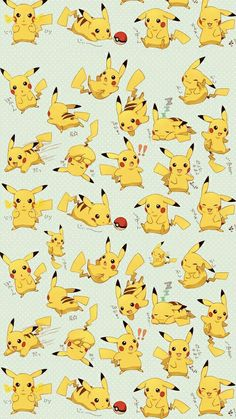 Anime [ Pokemon ] Pikachu  Wallpaper                                                                                                                                                                                 Más