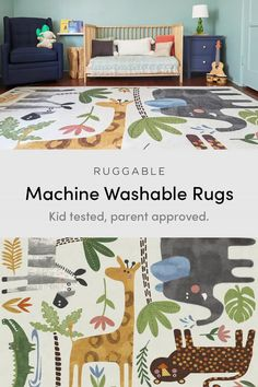 With their bursts of color and whimsical patterns, our kids rugs are sure to add a fun and playful energy to your nursery, kids' room, or playroom. Baby Room Decor, Bedroom Decor, Design Bedroom, Backyard Playground, Washable Rugs, Tuscan Decorating, Room Rugs, Nursery Rugs, Kid Spaces