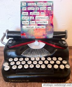 Think #creatively #quote #typewriter #art