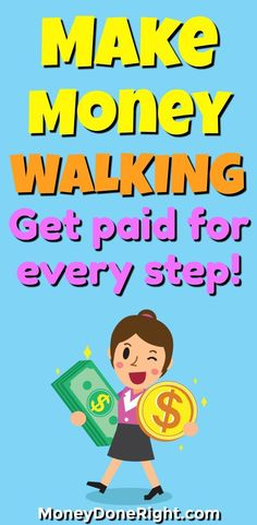 Yes, you can make money for walking! There is a new, 100% free app that you can download on your phone that will pay you to exercise. If you are looking to become more active, lose weight, or just lead a healthier lifestyle, then this is the money-making app for you!