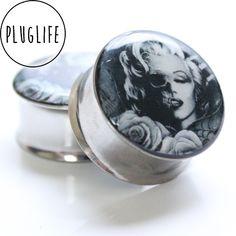 #MarilynMonroe #Zombie #plugs #gauges www.pluglifeco.bigcartel.com