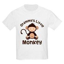 Grammy Grandchild Monkey Kids Light T-Shirt for