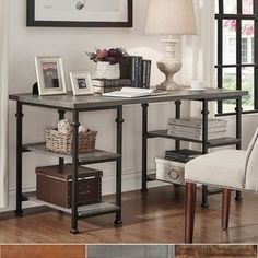 Shop for TRIBECCA HOME Myra Vintage Industrial Modern Rustic Storage Desk. Get free shipping at Overstock.com - Your Online Furniture Outlet Store! Get 5% in rewards with Club O!