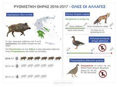 Ανακοίνωση του ΥΠΕΝ για την φετινή ρυθμιστική απόφαση για τοκυνήγι.