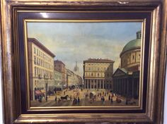 Largo Corsia Dei Servi Milano olio su tavola