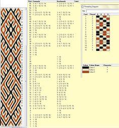 Eslavo - 16 tarjetas - el motivo se repite cada 52 movimientos - 3 colores   // Eslavo2  ༺❁