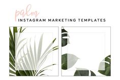 Palm Instagram Marketing Templates by Brand Candi on @creativemarket